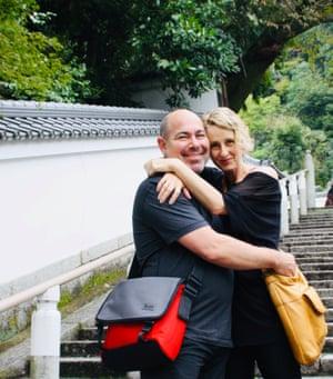 Sarah Munn and David Swain in Japan in 2015