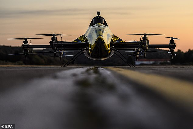 It has 217 brake horsepower and produces 660lbs of static thrust. It will be used in a new competition as part of the Drone Champions League