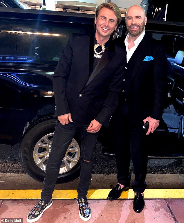 New besties? Cheban and Travolta took a photo together outside the splashy event