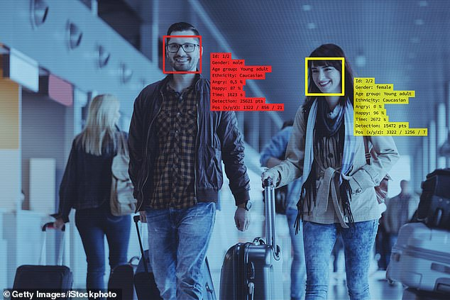 Federal Agencies that face coverings used by people trying to help prevent COVID-19 may thwart the effectiveness of facial recognition systems (stock)