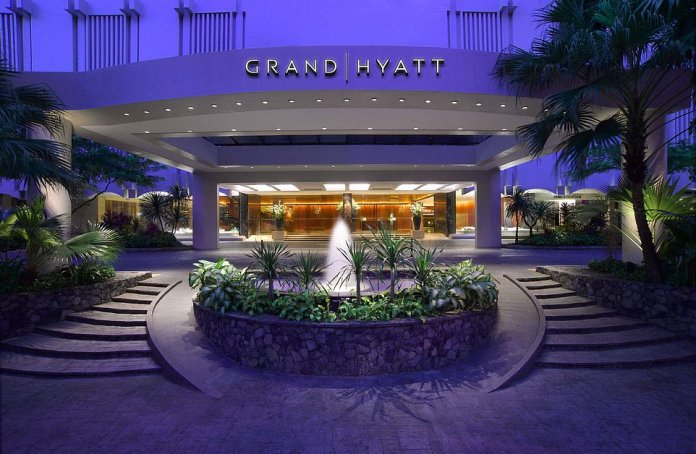 After returning from a trip to Singapore, where he stayed at the Grand Hyatt (pictured), the British man took himself to hospital with coronavirus symptoms.Health officials are not believed to be 'contact tracing' people on any Asia-UK flight he may have travelled on