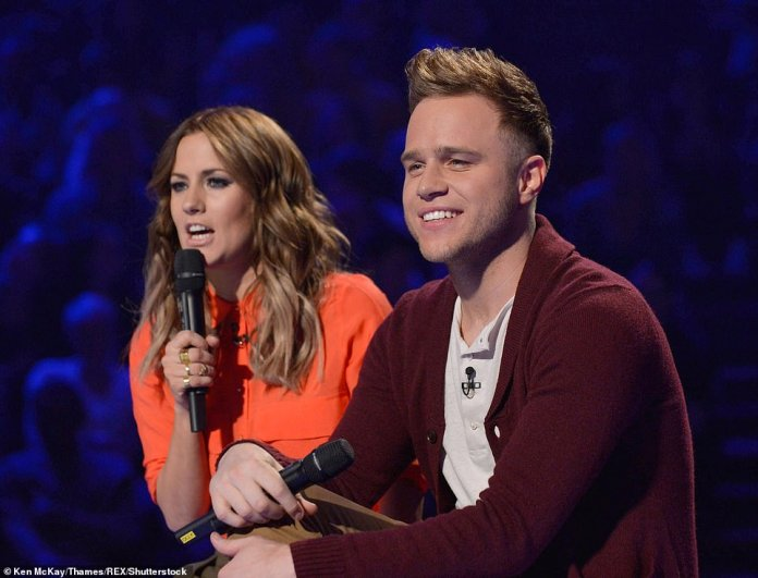 Out: Caroline and Olly only hosted The X Factor for one series, but they were replaced by Dermot O'Leary after earning a mixed reaction from viewers