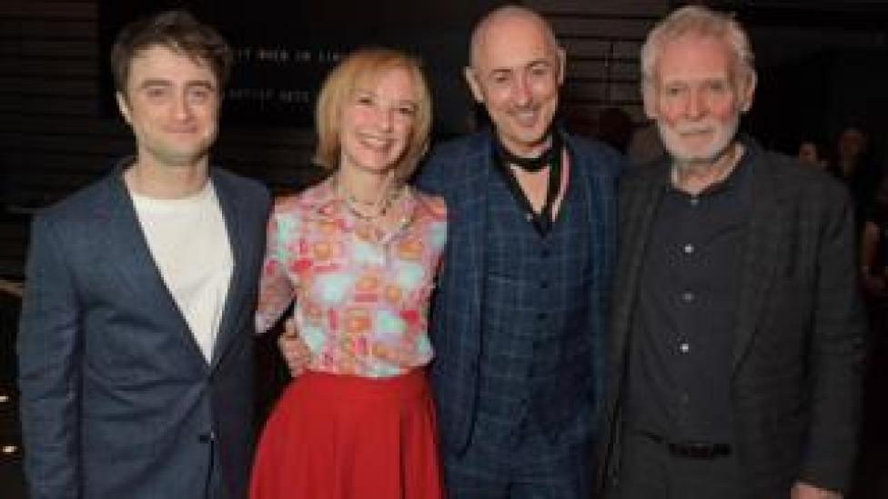 Endgame cast (left-right): Daniel Radcliffe, Jane Horrocks, Alan Cumming and Karl Johnson