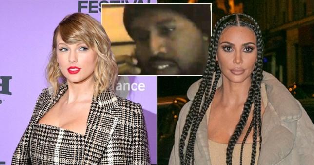 Kim Kardashian, Taylor Swift and Kanye West