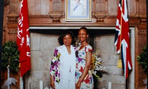 Patience Agbabi with her mother Helen at a British citizenship ceremony at the Archbishop's Palace in Maidstone, Kent, 2013