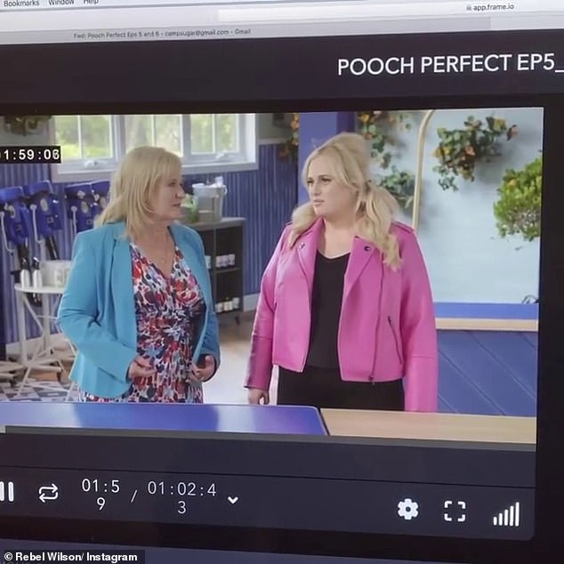 Giving her a 'celebrity slap down!' Rebel Wilson's mother Sue hilariously rolls her eyes at her daughter after being left unimpressed by her jokes on Pooch Perfect in a new promo clip for the program