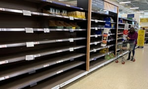 Grocery sales in the last four weeks alone amounted to £10.8bn and customers rushed to stock up on supplies.