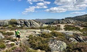 A runner in the Serra da Estrela, Portugal