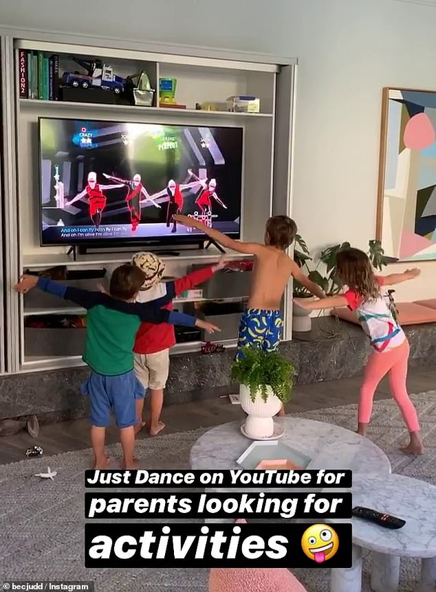 They can't tell the difference! Rather than buying a videogame console, Rebecca encourages her children to watch videos of people playing Just Dance on YouTube