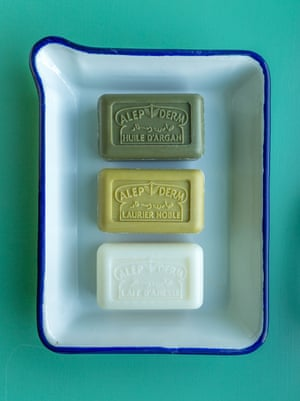 Northumberland firm RE-foundobjects stocks specialist soaps from Aleppo, Syria.