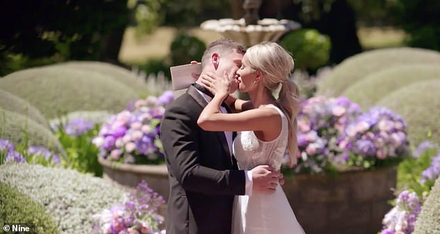 Stacey's vows:  'Michael. It hasn't always been easy, but you've been there for me when I needed you most. 'So thanks for rocking up when my card got declined at David Jones yesterday arvo
