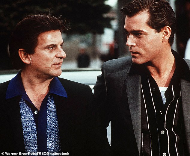 Throwback: Rising to fame as a heartthrob, Ray is widely recognized for his role of Henry Hill as the American mobster in Goodfellas. Seen here in the 1990 film with co-star Joe Pesci