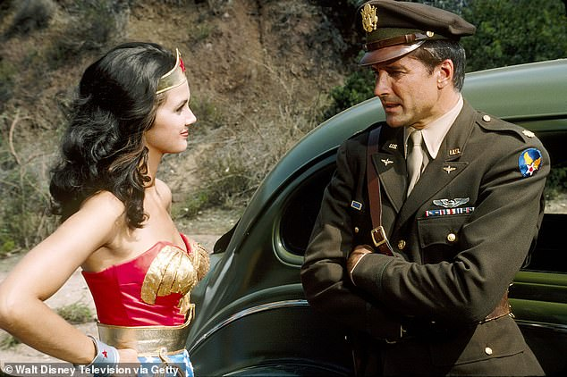 A handsome boss: In 1975 he was cast as Major Steve Trevor opposite Carter's Wonder Woman. He played the boss to her alter ego Diana Prince