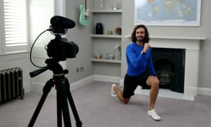 Joe Wicks, a phenomenally popular YouTube fitness coach, shows you how to keep fit at home.