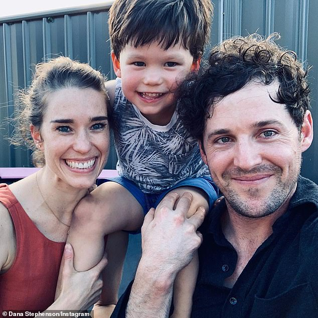 Milestone moment: Lachlan revealed he had met Dana's son Jasper, four, on New Year's Day (pictured)