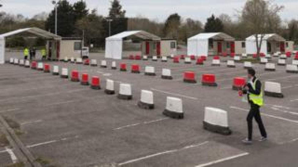Coronavirus testing site at Chessington World of Adventures