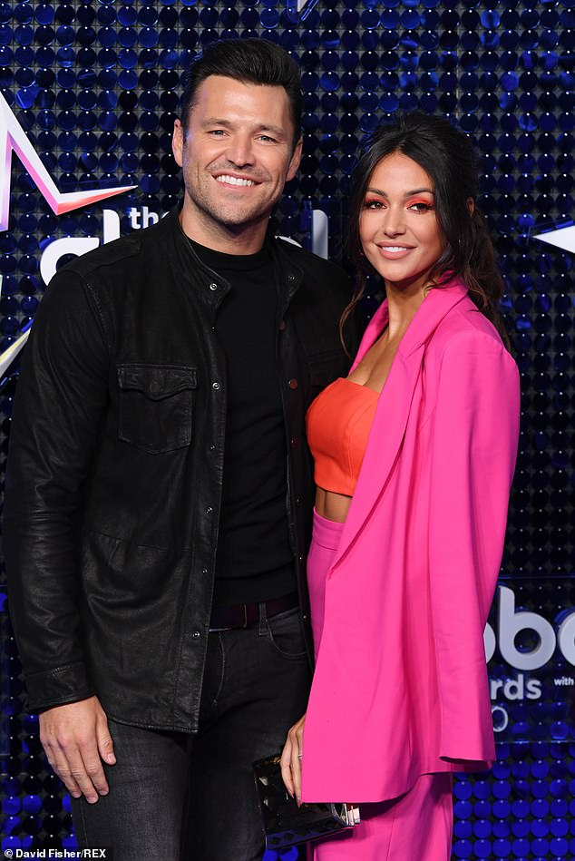Banter:Michelle Keegan joined husband Mark Wright on his new Heart evening show on Tuesday and revealed the most annoying thing he has been doing while working at home (pictured last month)