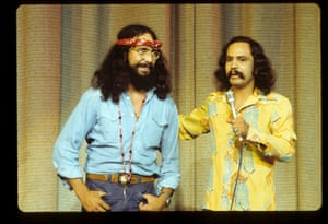 Tommy Chong, left, and Cheech Marin in Cheech and Chong in Concert, 1973.