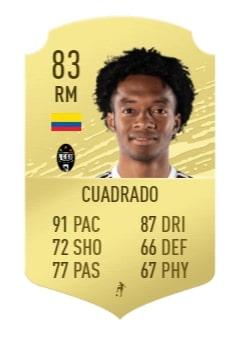 FIFA 20 Cuadrado base card