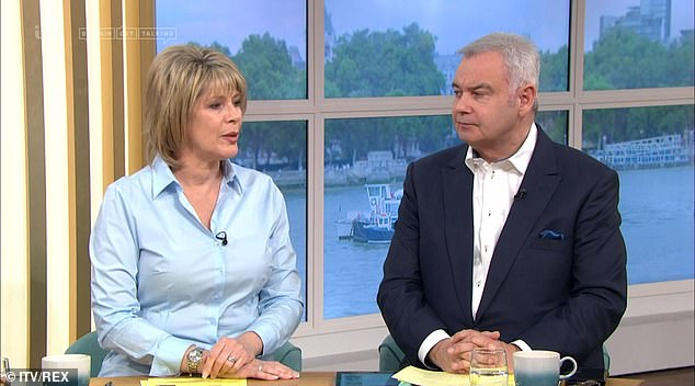 Hitting back:Also on Friday's This Morning, Eamonn and Ruth hit back at fans' complaints that they were sitting too close to each other and not practising social distancing