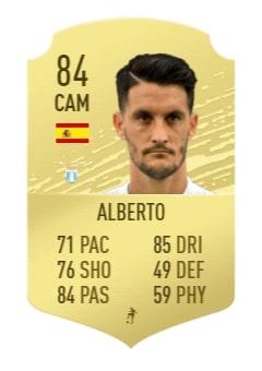 FIFA 20 Alberto base card