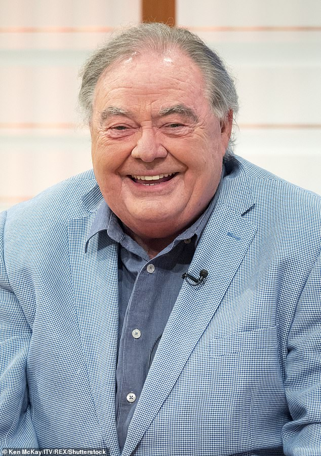 Tragic: Linda said she and Sam were 'devastated' at the passing of the TV legend, with his family saying he contracted coronavirus in hospital, where he was being treated for heart failure (above in 2017)