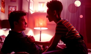 Asa Butterfield and Patricia Allison in Sex Education
