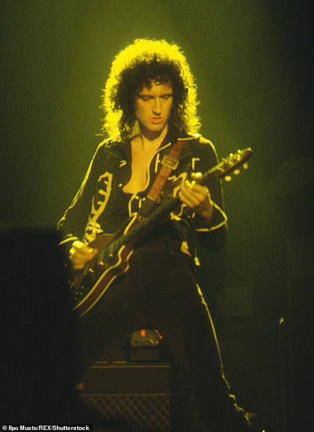 Legendary: Brian May is best known as the guitarist in rock band Queen