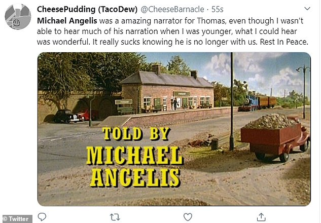 Tributes:Fans of the classic children's show were left devastated by the news, and took to Twitter to lament his loss