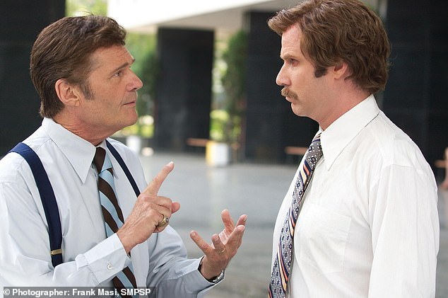 In addition to his unparalleled career in television, Willard turned in some memorable film roles as well: Here his is seen opposite Will Ferrell in Anchorman: The Legend of Ron Burgundy