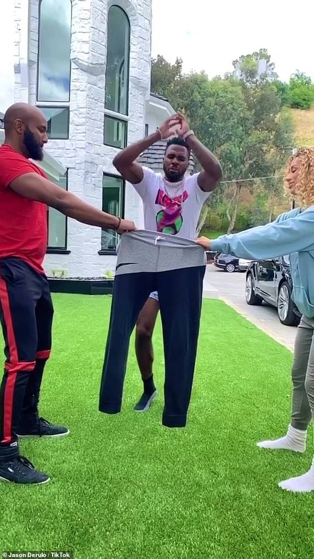 Dating:It was revealed earlier in May that Derulo has been dating Frumes, the ex-girlfriend of Manchester United star Jesse Lingard and they're both self-isolating in Los Angeles