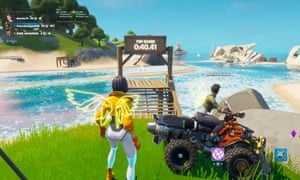 Fortnite Party Royale is crammed with racing challenges, each offering a high score to beat
