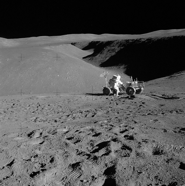 A current NASA proposal to build a moon base would require 12,000 tons of construction material, which would cost more than $1trillion to transport from Earth.