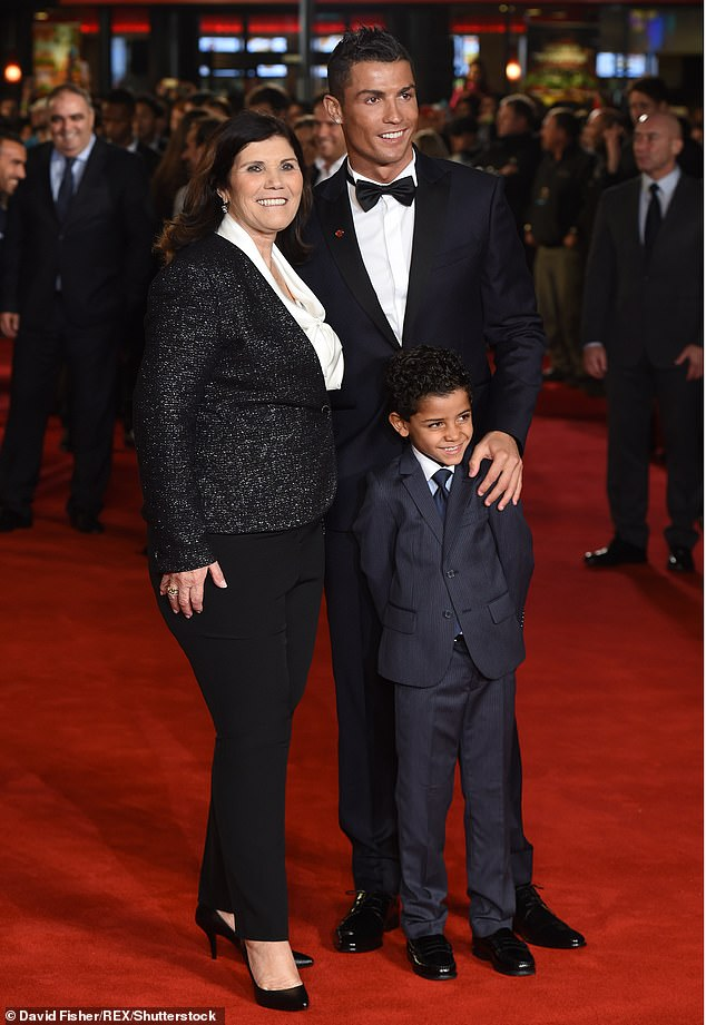 Support system: The star is famously close to his mother Maria Dolores Aveiro and recently admitted it's her dream for the couple to wed (pictured in 2015)