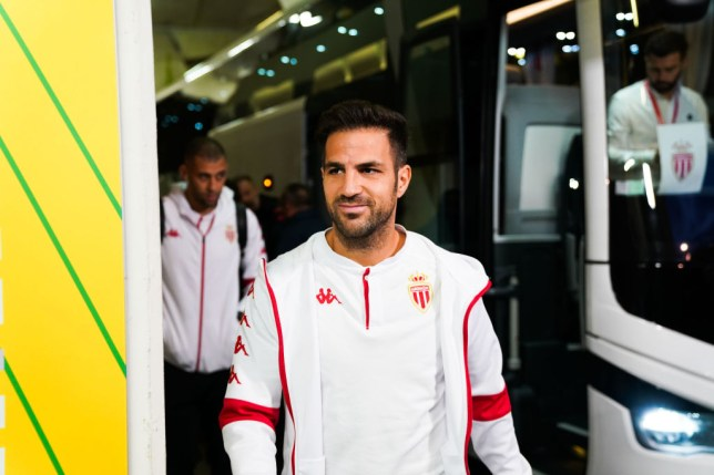 Cesc FABREGAS of Monaco during the Ligue 1 match between Nantes and Monaco at Stade de la Beaujoire on October 25, 2019 in Nantes, France.