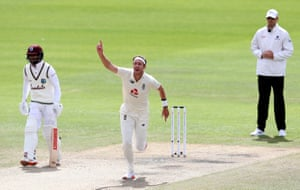 Broad celebrates taking his five hundredth wicket.