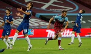 Andriy Yarmolenko peels away after scoring the winner, much to Chelsea's despair.