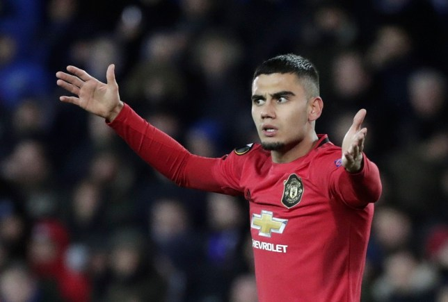 epa08232122 Andreas Pereira of Manchester United reacts during the UEFA Europa League Round of 32, 1st leg match between Club Brugge and Manchester United in Bruges, Belgium, 20 February 2020. EPA/STEPHANIE LECOCQ