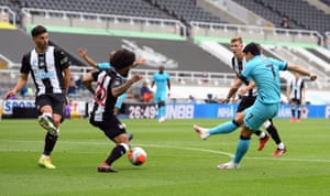 Son scores the opening goal.