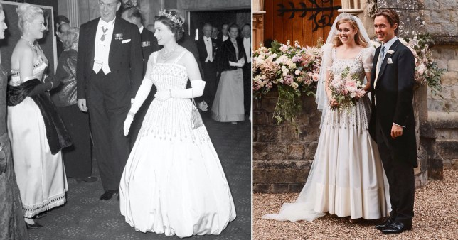 Beatrice's wedding dress was an upcycled one the Queen wore
