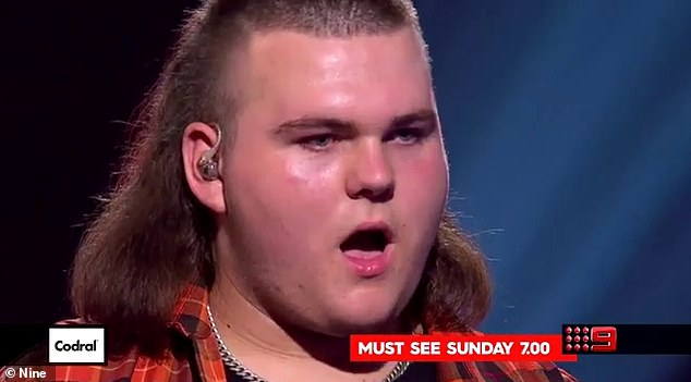 Deal with the devil? Taking part in The Voice comes at a price, as all the contestants must sign a contract that allows producers to send them home at any time. Pictured: Adam Ludewig