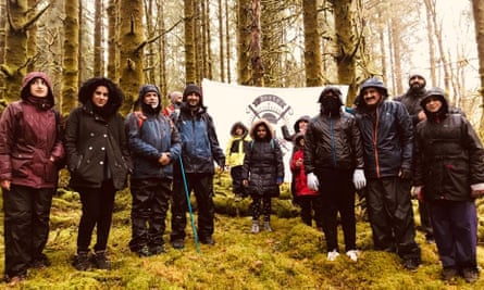 Group trek … members of the Boots and Beards group.