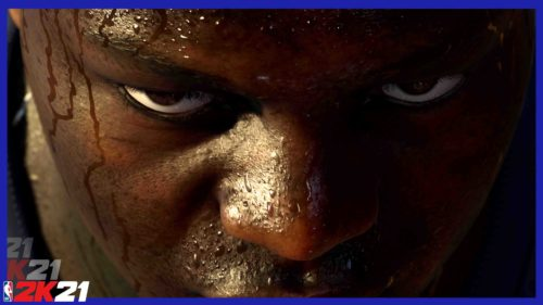 NBA 2K21 Zion Williamson Focused Still from PS5 Teaser Trailer