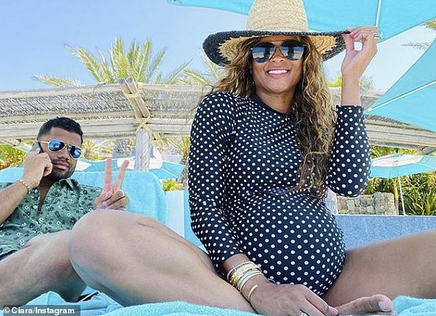 Expecting: Wilson and Ciara, 34, announced in January that they were having a sibling for their daughter Sienna, three. They celebrated their fourth wedding anniversary earlier this month