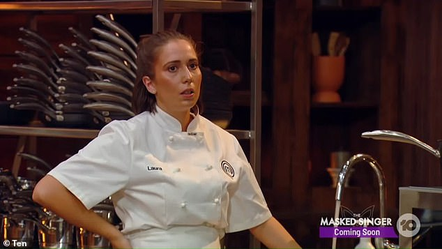 Strong and opinionated: The chef, 25, said she wasn't sure if viewers found her personality now as over confident or cocky, saying: 'I'm 25, I've kind of found who I am, I'm a strong woman, I voice my opinions quite loudly and I don't like to put up with too much bullsh*t'