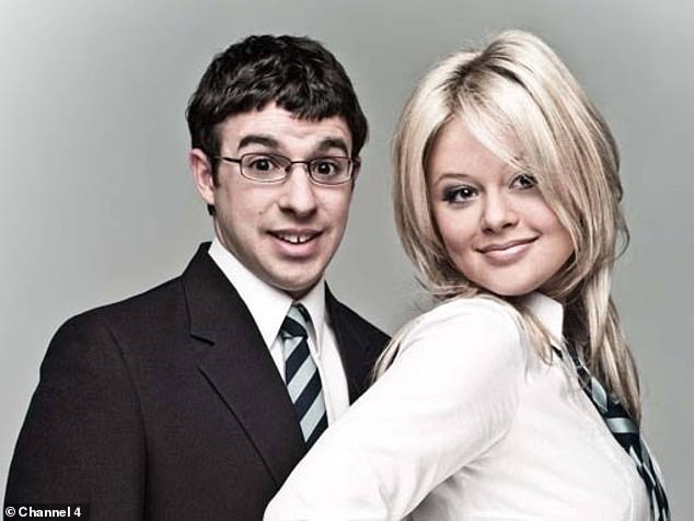 Prominence: Emily rose to fame as Charlotte on the coming-of-age sitcom The Inbetweeners, which ran on E4 from 2008 until 2010 (pictured withSimon Bird as Will)