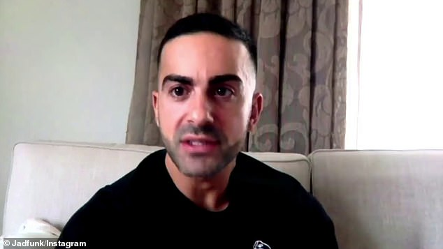 Heartbreaking: Gogglebox's Jad Nehmetallah (pictured) revealed his aunty has been injured in the horror blast in Lebanon on Tuesday