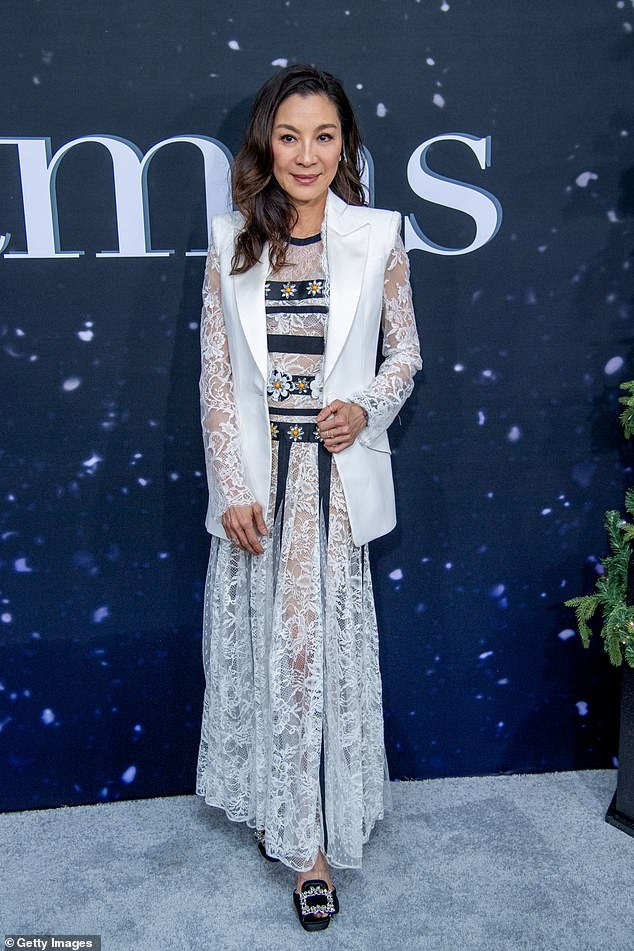 Safety: Malaysian actress Michelle Yeoh underwent two COVID-19 tests following her arrival in Australia to film for Marvel's Shang-Chi and the Legend of the Ten Rings [Pictured October 2019 in New York]