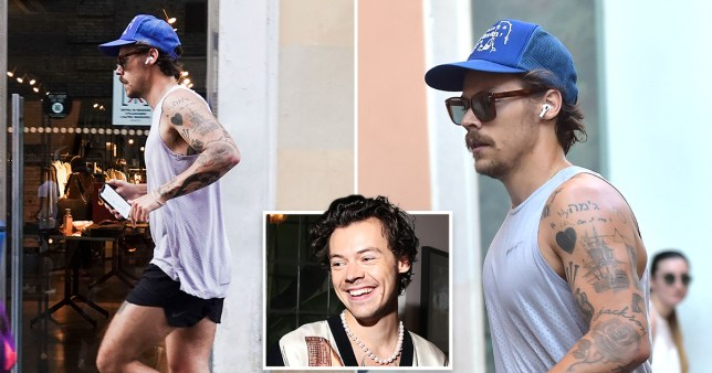 Harry Styles jogging in Italy