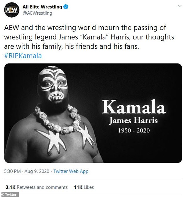 Legacy: The wrestling organization AEW sent condolences for the late pro wrestler